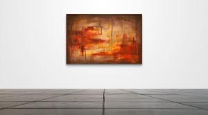 "Abstract 026  /   36"" x 24""   /   Acrylic on canvas"