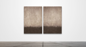 "Custom 0119  /   40"" x 60"" Diptych   /   Acrylic on canvas"