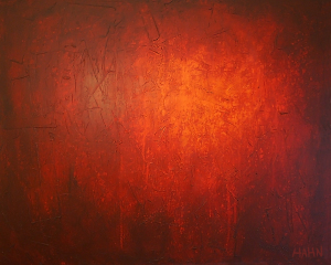 Abstract Painting 027 by Andy Hahn -- Red art