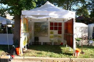 Andy Hahn booth at Shaw Art Fair