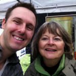 Andy Hahn and Ginny Herzog at Shaw Art Fair