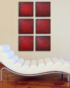 Modern art abstract multi panels by Andy Hahn