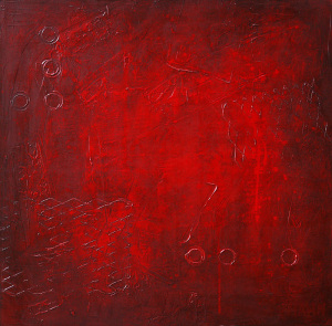 Red Modern Abstract Art Painting 127 by Andy Hahn