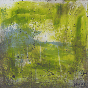 Green modern art by Andy Hahn - Abstract 131