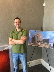St. Louis artist Andy Hahn drops off art for the Current Hotel