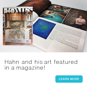 Andy Hahn and his art featured in St. Louis Home + Lifestyle magazine