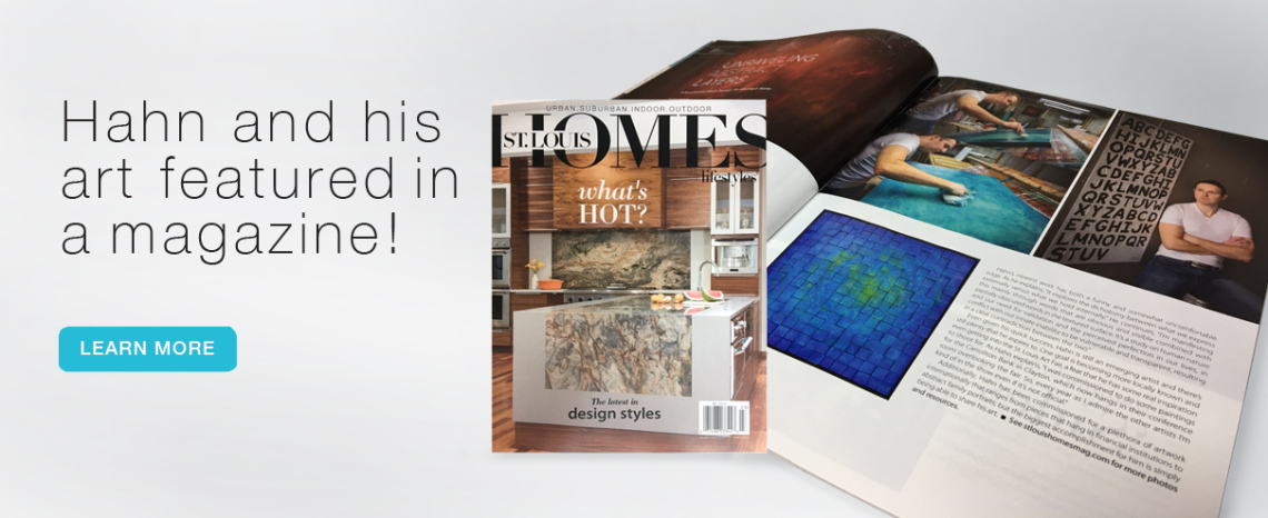 Andy Hahn and his art featured in St. Louis Homes + Lifestyle magazine