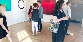 Andy Hahn art exhibit opening
